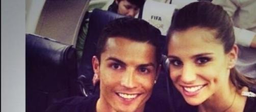 Cristiano Ronaldo junto a Lucía Villalón