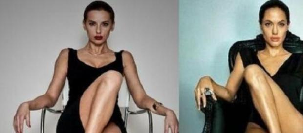 Gauche: Jaanika Merilo / Droite: Angelina Jolie