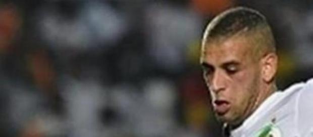 Slimani scored Algeria's third after 82 minutes