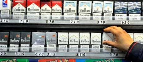 Cigarettes currently show brands in UK shops