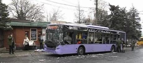 El Trolebús objeto del ataque