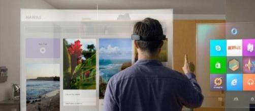 Microsoft HoloLens, realidad virtual aumentada.