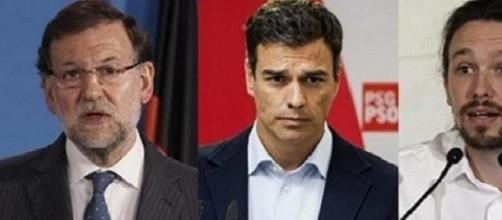 Rajoy, Sanchez e Iglesias