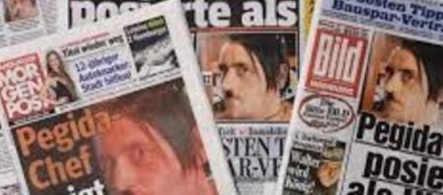 Lutz Bachmann estampado nas páginas de jornais