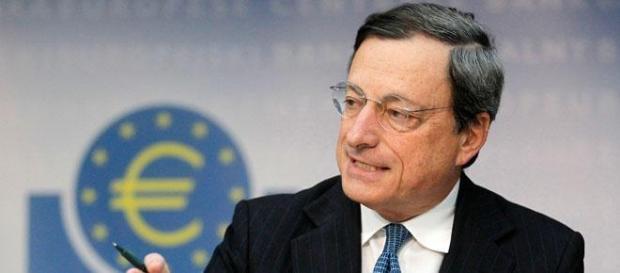 Mario Draghi na reunião do BCE.