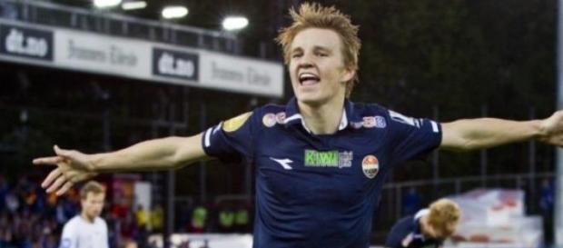 Odegaard en la liga Noruega