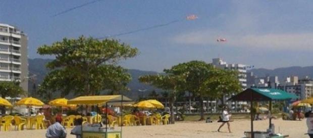 Praia do Indaiá, no centro: falta estacionamento