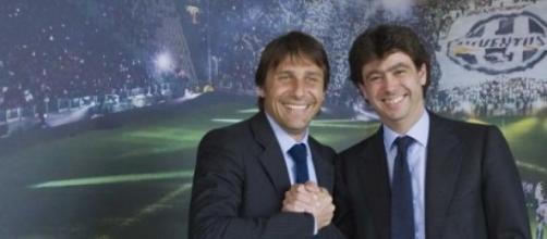 Conte e il Presidente della Juve Agnelli
