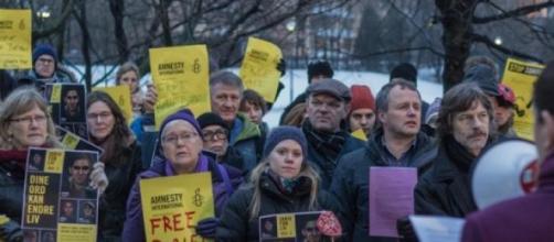 Houve manifestações por Badawi em todo o mundo