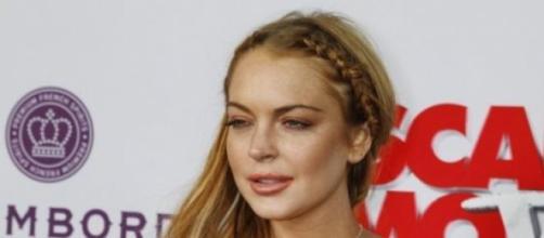 Lindsay Lohan en enero en una promoción