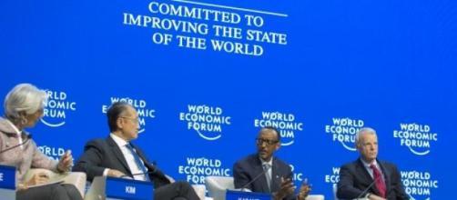 President Kagame speaking at World Economic Forum
