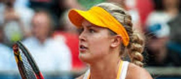Eugenie Bouchard asked to give a twirl Down Under