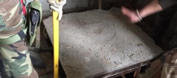 La botola di accesso al maxi bunker