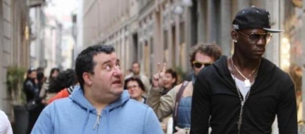 Raiola aqui acompanhado por Balotelli