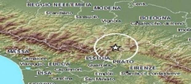 Sciame sismico sull'Appennino tosco-emiliano