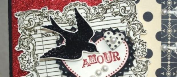 Carte postale ancienne envoyée à la Saint-Valentin