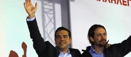 Los líderes de Syrizas y Podemos