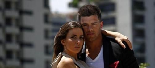 Aylén y Leandro antes de entrar en el programa