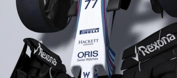 Bico do carro da Williams para 2015