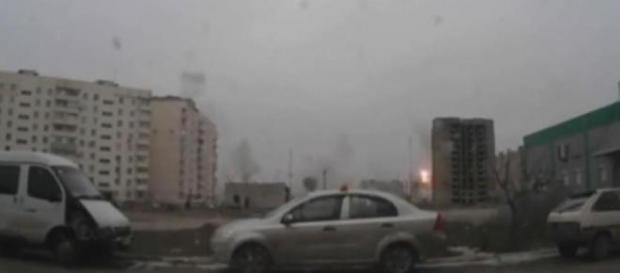 Ostrzał Mariupola (kadr z filmu)