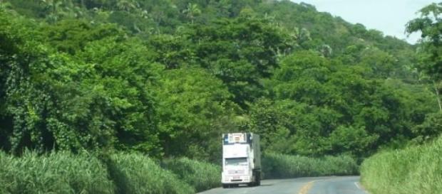 Trecho da rodovia brasileira