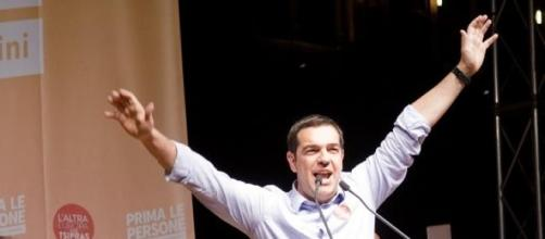 Alexis Tsipras, 40 years old, leader of Syriza