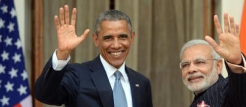 Barack Obama et Narendra Modri à New Delhi.