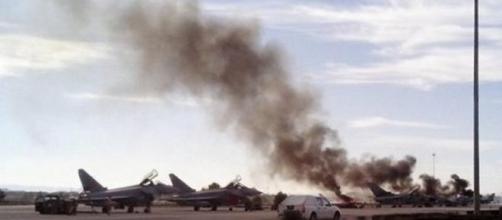 Caça F-16 grego despenha-se em Espanha-1