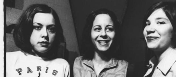 Le Sleater-Kinney all'inizio della loro carriera