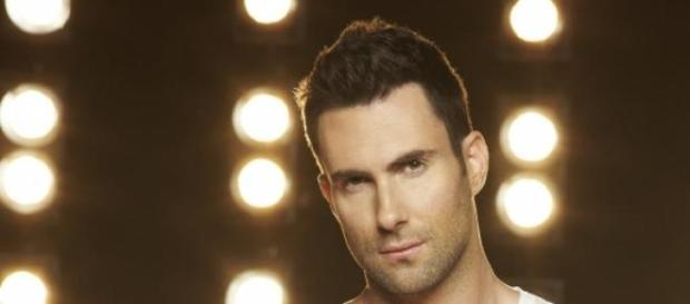 "Levine en una sesión de fotos para ""The Voice"""