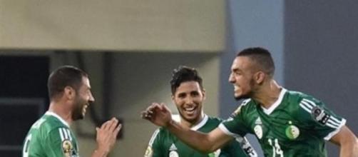 Nabil Bentaleb scored Algeria's second
