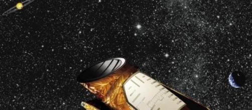 O telescópio Kepler no espaço