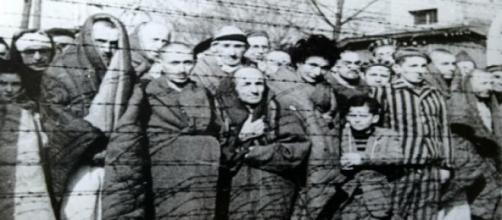 Prisioneros de Auschwitz cuando su liberación.