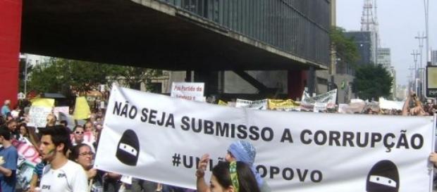 Chega de corrupção: Grito de revolta de nós todos