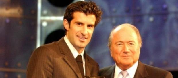 Figo vs Blatter pela liderança da FIFA