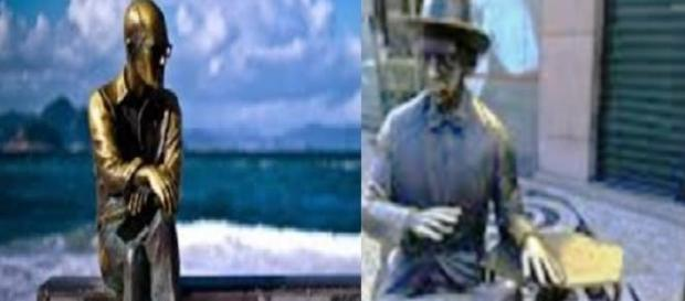 Pessoa e Drummond: entrelaçados por obras de arte.