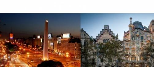 Imágenes de Buenos Aires y Barcelona
