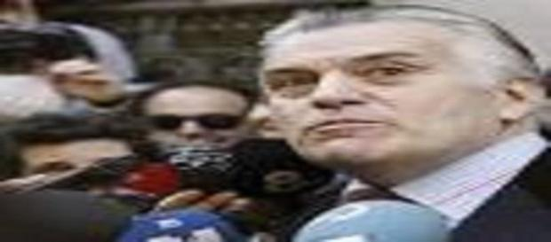 Barcenas, a la salida de la Audiencia Nacional.