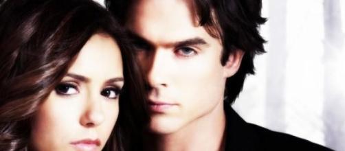 Damon y Elena de ''The Vampire Diaries'