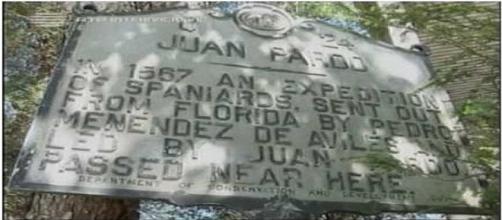 Placa - Expedição de Juan Pardo, em 1567.
