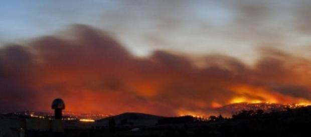 Imagem do incêndio na Austrália