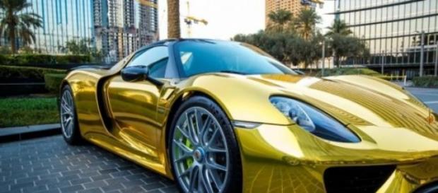Porche 918 spyder en OR, en Arabie Saoudite