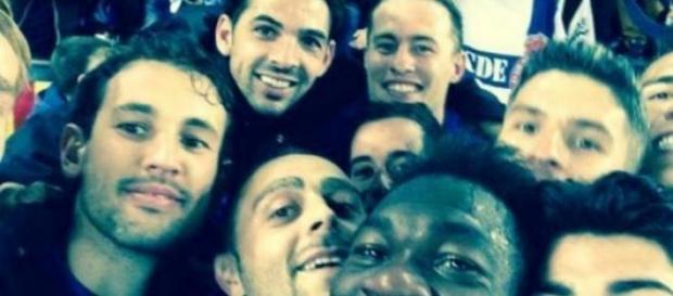 """""""Selfie"""" tras la eliminatoria frente al Valencia."""