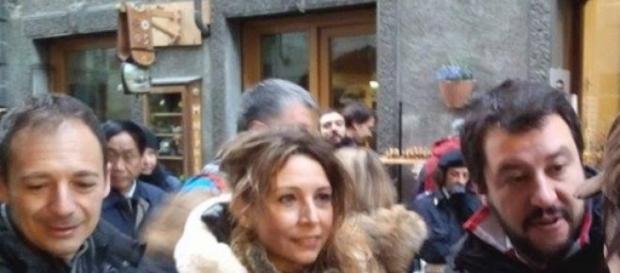 Matteo Salvini e Nicoletta Spelgatti alla fiera.