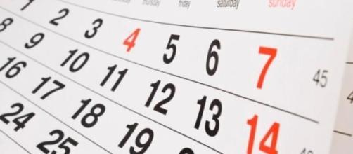 Calendário dos feriados de 2015