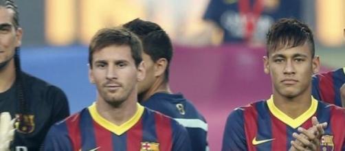Messi y Neymar estaban castigados