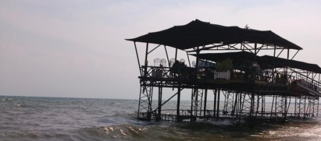 This picture show how Lac Tanganyika waters are slowly invading the beach. This is as a result of global warming.