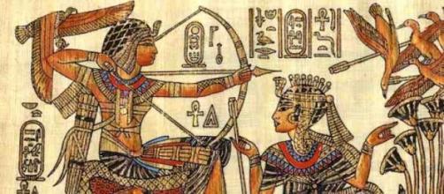 Representación de una escena en el antiguo Egipto