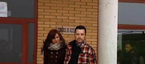 José Ortega Cano saliendo de prisión