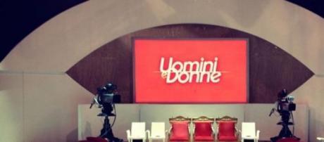 Lo studio del famoso programma tv Uomini e Donne